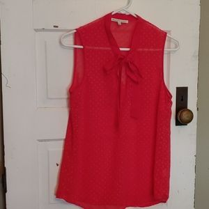 🌈 Sheer Red Daniel Rainn Sheer Shirt Size Small